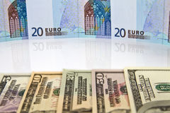 Currency pair Euro - dollar Royalty Free Stock Image