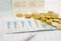 Currency and paper money of Korean Stock Photo