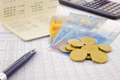 Currency and paper money of Switzerland Stock Photo
