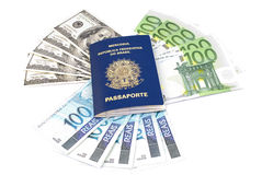 Currency Passport Royalty Free Stock Image