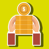 Currency pile money coin Royalty Free Stock Photography