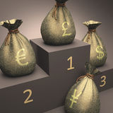 Currency Podium Royalty Free Stock Photos