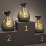 Currency Podium Royalty Free Stock Images