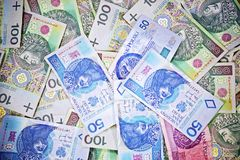 Currency in Poland Royalty Free Stock Images