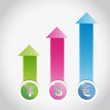 Currency prices graph illustration design Stock Photo