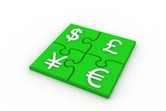 Currency Puzzle Stock Images