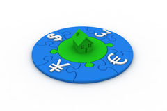 Currency Puzzle Royalty Free Stock Photos
