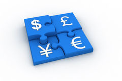 Currency Puzzle Royalty Free Stock Photo