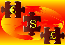 Currency Puzzle Stock Image