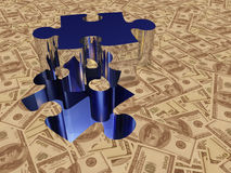 Currency $ Puzzle Royalty Free Stock Photo