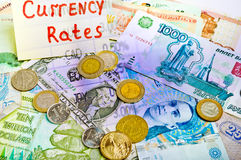 Currency rates Royalty Free Stock Image