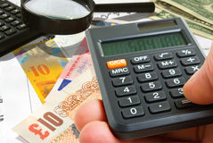 Currency rates. Stock Images