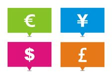 Currency rectangle pointers Royalty Free Stock Image