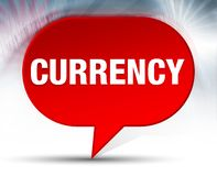 Currency Red Bubble Background stock illustration