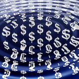 Currency ripples Stock Image