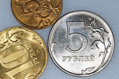 Currency of Russia Rubel Royalty Free Stock Photography