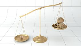 Currency scale bitcoin bankruptcy. This is the recreation of the bitcoin balance in a scale. Bitcoin is a digital currency also called crypto-currency that is Royalty Free Stock Image
