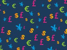 Currency seamless pattern Stock Photos