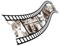 Currency is in a shot. Royalty Free Stock Images