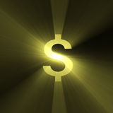 Currency sign Dollar bright light flare Stock Photo