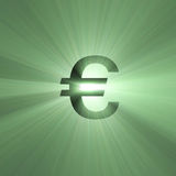 Currency sign Euro light flare Royalty Free Stock Photo