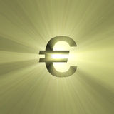 Currency sign Euro light flare Royalty Free Stock Photography