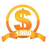 Currency sign of golden dollar Stock Photo