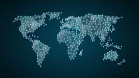 Pound currency sign makes global world map, internet of things. financial technology. Currency sign makes global world map, internet of things stock video footage