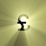 Currency sign Pound light flare Stock Images