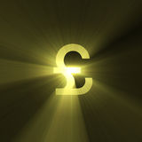 Currency sign Pound light flare Stock Photos