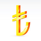 The currency sign of Turkish lira. Illustration of the currency sign of Turkish lira Stock Images