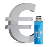 Currency sign USB memory stick Stock Image