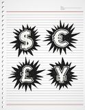 Currency sign. Vector art sign or symbol Stock Image