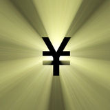 Currency sign Yen money flare Stock Images