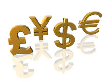 Currency signs Royalty Free Stock Image