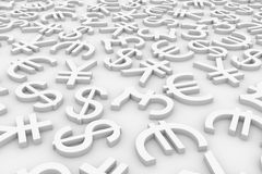 Currency signs. Stock Photos