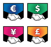 Currency signs Royalty Free Stock Photography