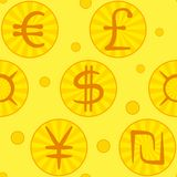 Currency signs, seamless Royalty Free Stock Image