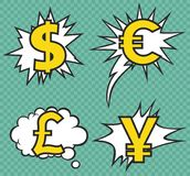 Currency signs. Vector art background or print Royalty Free Stock Photography