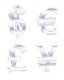 Currency signs. Vector illustration. Stock Photo