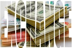 Currency speculation the ruble dollar. Currency speculation Russian ruble US dollar Royalty Free Stock Image