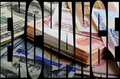 Currency speculation the ruble dollar. Currency speculation Russian ruble US dollar Stock Photo