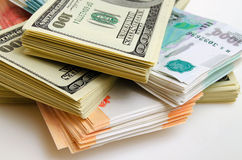 Currency speculation the ruble dollar. Royalty Free Stock Photo