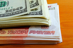Currency speculation the ruble dollar. Royalty Free Stock Images