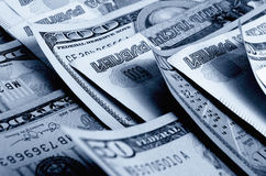 Currency speculation the ruble dollar. Stock Photography