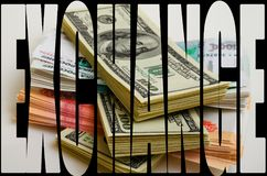 Currency speculation the ruble dollar. Currency speculation Russian ruble US dollar Stock Image