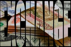Currency speculation the ruble dollar. Currency speculation Russian ruble US dollar Stock Photography