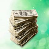 Currency Stack Royalty Free Stock Images