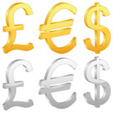 Currency symbol Royalty Free Stock Images
