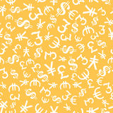 Currency Symbol Seamless pattern Royalty Free Stock Photos